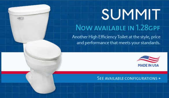 Summit Toilet Now Available in 1.28GPF