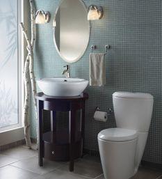 small bathroom remodel ideas: space-saving bathroom sinks