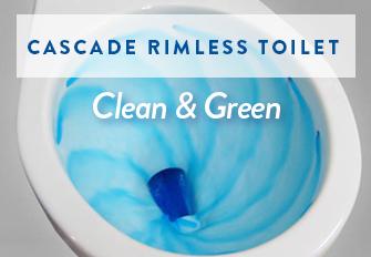 cascade rimless toilet - Power Flush Toilet