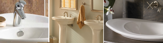 Options Include Above Counter Vessels Self Undercounter And Pedestal Sinks