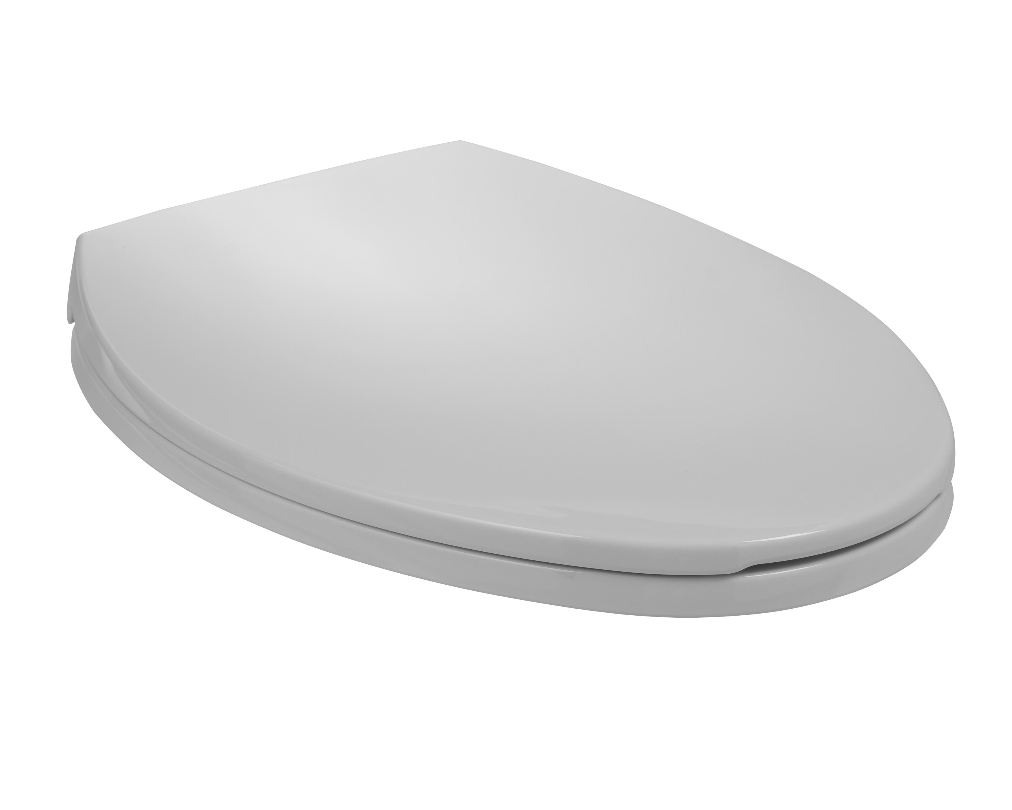 black and white toilet seat.  SmartClose Toilet Seat Model SB700 Mansfield Plumbing