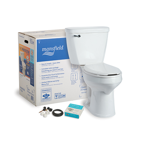 Protector 174 No Overflow Toilet Model 1384 1386 Mansfield