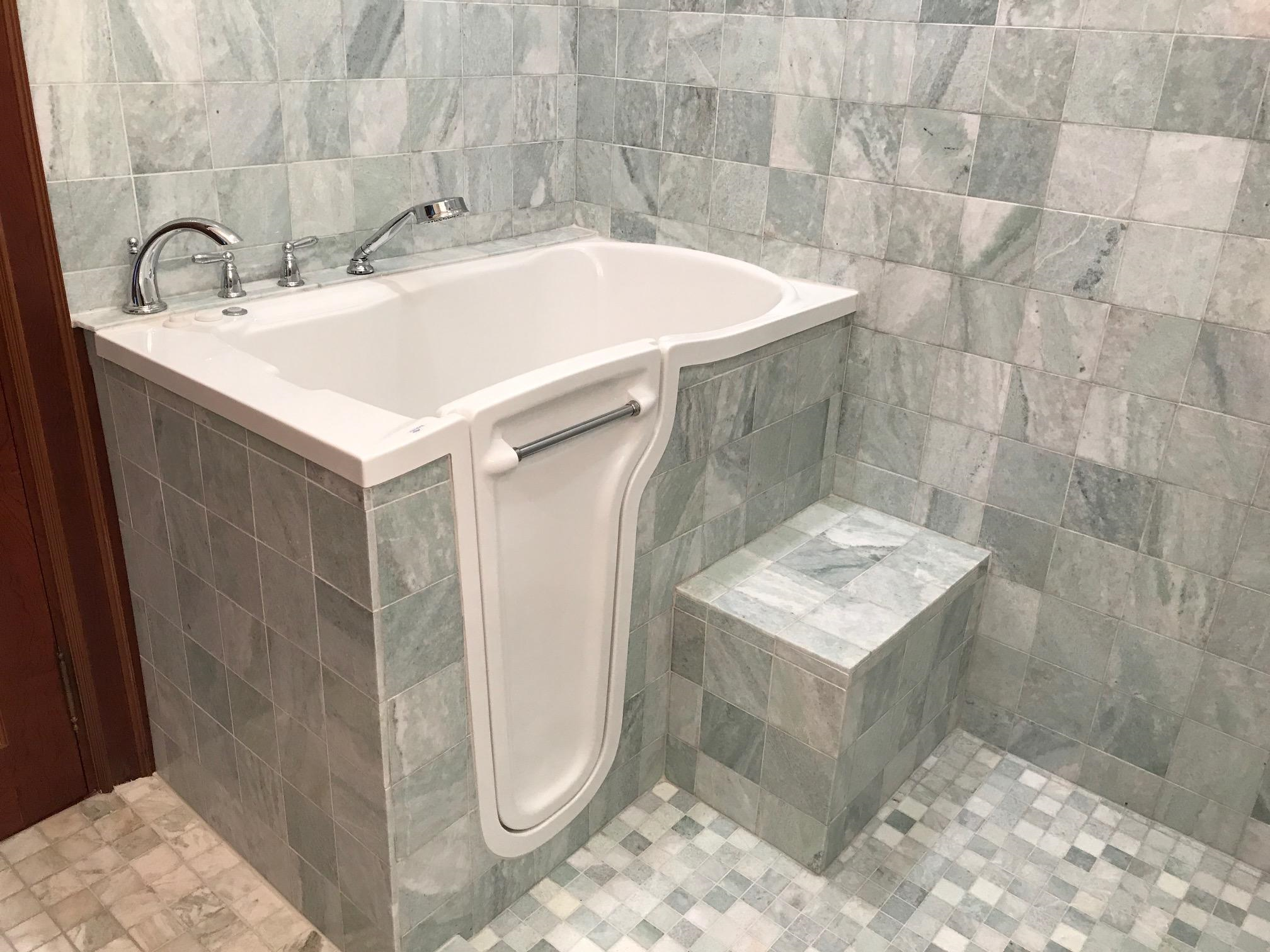 Stylish Walk-in Tub and Shower Combination | Mansfield Plumbing